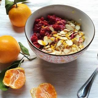 Citrus and Spice Quinoa Coconut Breakfast Porridge.