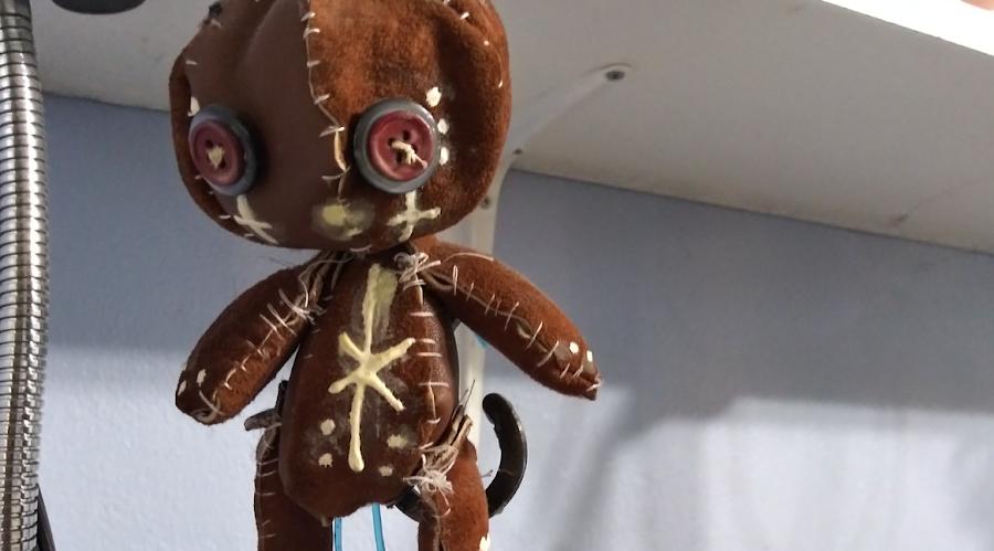 Jorvon's Earliest Sewn Creation, a Voodoo doll
