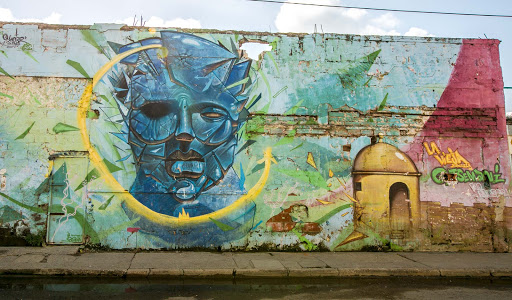 Cartagena-wall-mural.jpg - A wall mural in the Getsemani neighborhood.