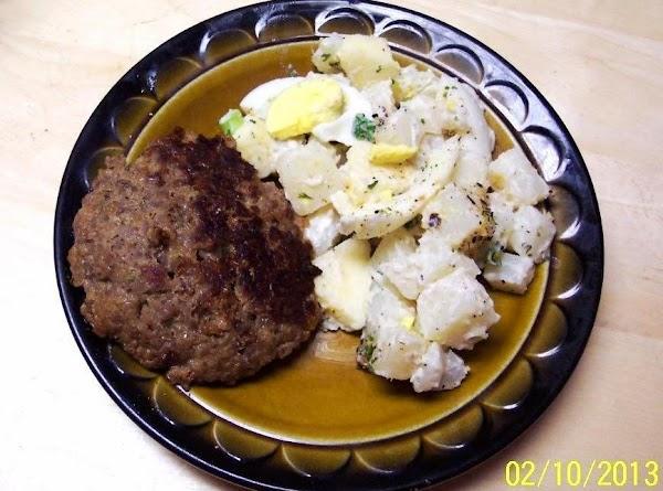 Horsey Apple Potato Salad & Italian Sausage Recipe