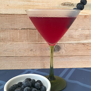 Blueberry Lemon Vodka Martini.