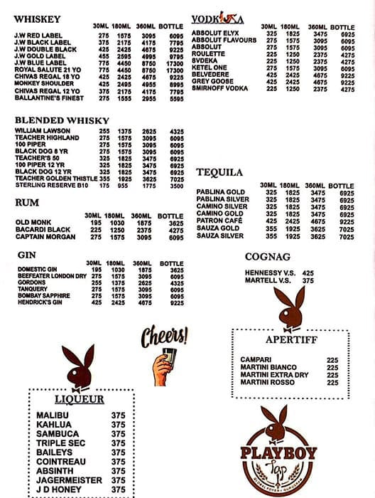 Playboy Tap menu 4