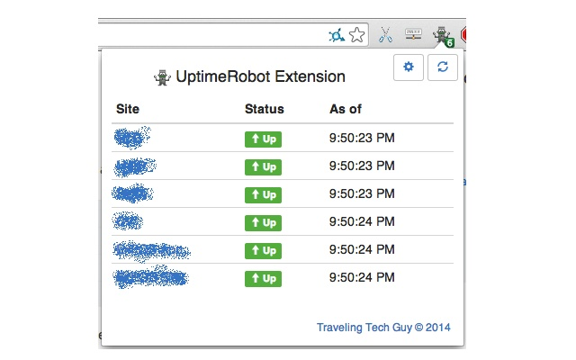UptimeRobot Extension