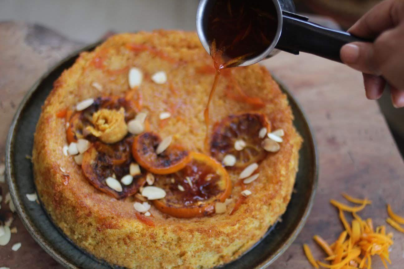 Sephardic Whole Orange Saffron Honey Cake Paticheri