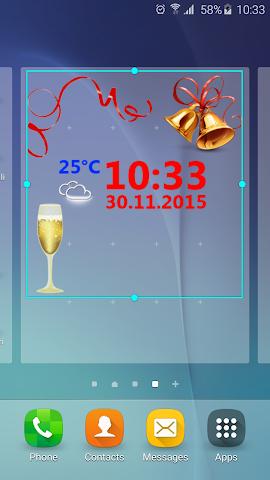 android Neujahr Wetter Uhr Screenshot 0