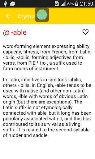 玩免費教育APP|下載英语词源词典 app不用錢|硬是要APP