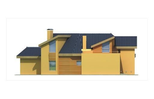 Bursztyn wersja B z podwójnym garażem - Elewacja lewa