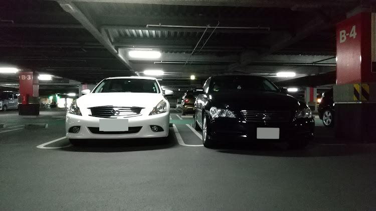 スカイライン KV36のコラボ,立体駐車場,美人オーナー,マークXに関するカスタム&メンテナンスの投稿画像3枚目