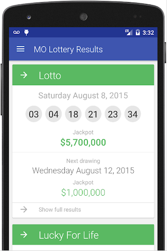 Results for Missouri Lottery