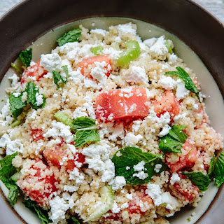 Minted Summer Couscous with Watermelon and Feta.