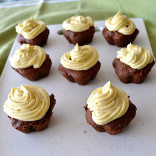 Cacao Almond Meal Cupcakes With Cream Cheese Frosting.