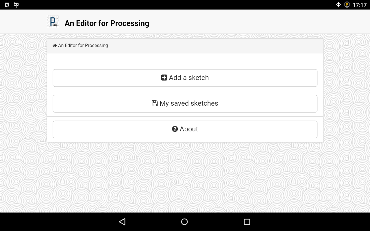 An Editor for Processing- screenshot