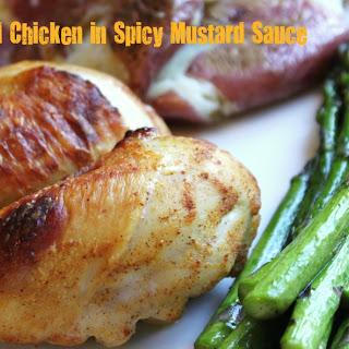 Oven Grilled Chicken in Spicy Mustard Sauce