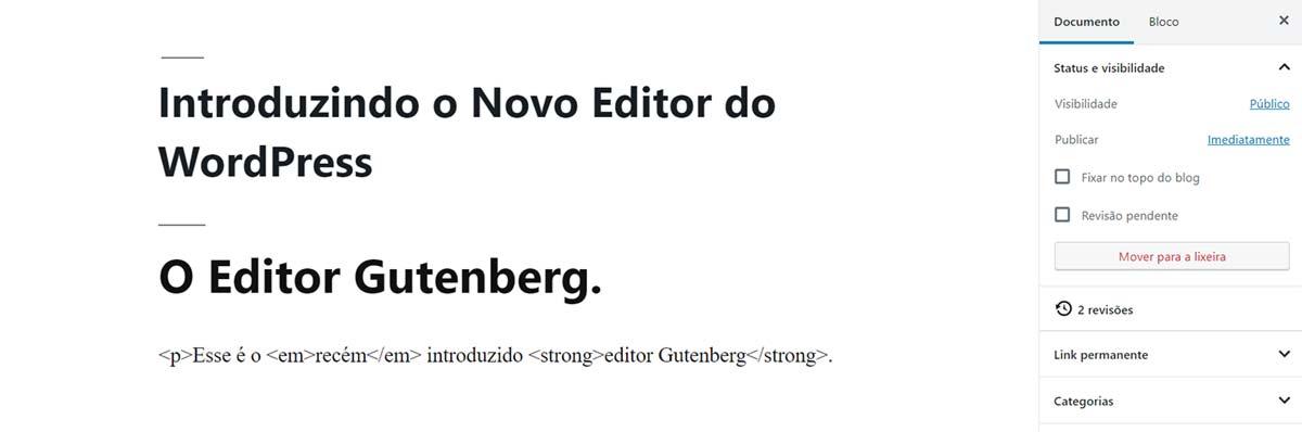 Aprenda como usar tags HTML no Editor Gutenberg