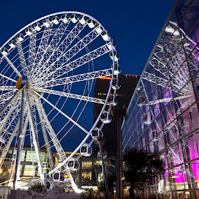 Manchester Wheel by Phil Portus - Buildings & Architecture Other Exteriors ( pwcarcreflections manchester wheel evening city centre night )