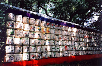 Photo: Tokio - beczułki z sake w parku Yoyogi / Tokyo - barrels of sake in the Yoyogi park