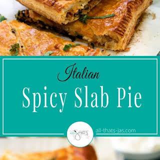 Spicy Italian Slab Pie.