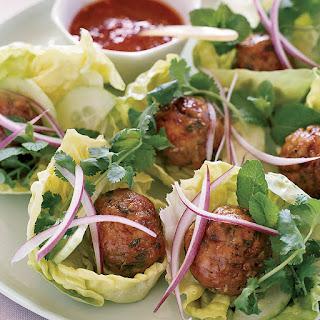 Joyce's Vietnamese Chicken Meatballs in Lettuce Wraps