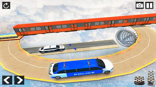 Police Limo Car Stunts - Mega Ramp Car Racing Game android2mod screenshots 3