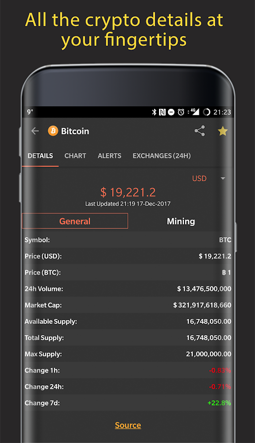 CoinMarketApp - Cryptocurrency Tracker Tool- screenshot