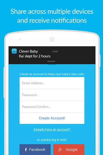 Clever Baby - Free Log & Track screenshot