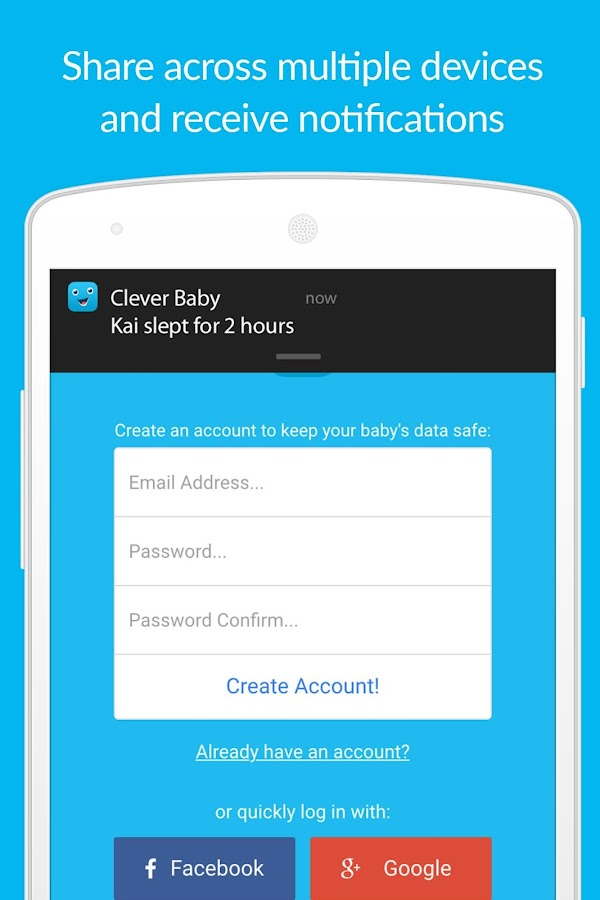 Clever Baby - Free Log & Track- screenshot