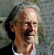 Photo: Austrian author Peter Handke visits the Serb Orthodox Church of Sveti Stefan in the village of Velika Hoca, some 60km west from Pristina, 08 April 2007. Handke visited Kosovo where he donated 50,000 euros to the people of Serbian enclave Velica Hoca.     AFP PHOTO / STR††††††
