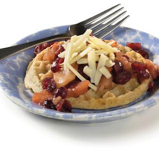 Apple-Cranberry-Cheddar Waffles.