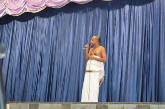 Photo: Sriman Krishnamacharya Swami giving anugraha bhashanam - Guru Purnima, Chathurmasya Deeksha Starts (Divya Saketham, AP, India - 2012 July 3)