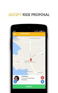 Taxidi Driver App - náhled