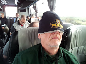 Photo: Ed catches a few ZZZs on the bus.