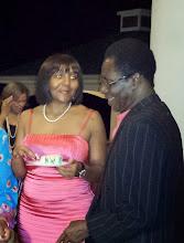 Photo: Ndileka talks with Dr. Nii Saban Quao