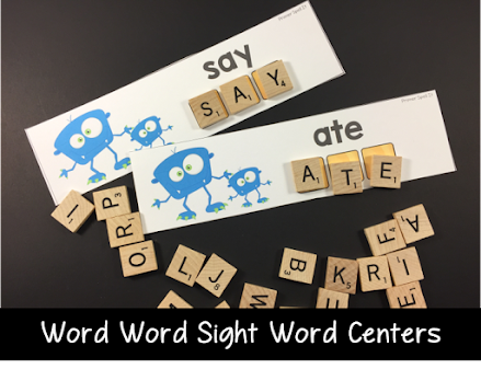 Use scrabble tiles to practice sight words