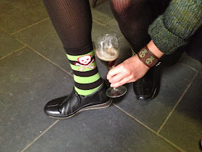 Photo: Sporting Halloween sox!