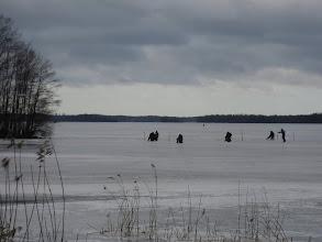 Photo: Varjotonta valoa ennen sinistä hämärää 23.2.2008.. viimeisiä hetkiä jäällä - sula paikka vasemmalla alhaalla..