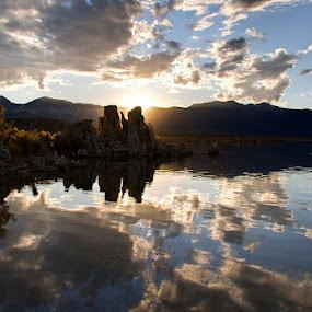 Sunset over South Tufa by Daniela Maskova - Landscapes Waterscapes ( travelling, mono lake, sunset, california, south tufa, holidays, usa )