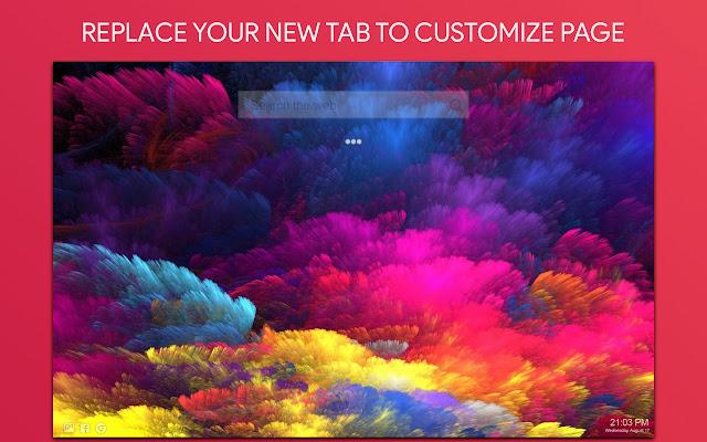 Rainbow Aesthetic Wallpaper HD Custom New Tab