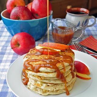 Caramel Apple Buttermilk Pancakes
