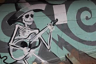 Photo: Skeleton Mariachi Graffiti  for #StreetArtSunday curated by +Mark Seymour +Luís Pedro +Peter Tsai   Shot in the little Five Points neighborhood of Atlanta, Georgia - which is one of the best spots to photograph Graffiti in Atlanta. Other cool spots include Krog Tunnel