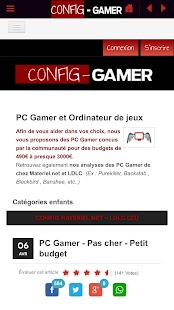 Config Gamer - Guide achat PC – Vignette de la capture d'écran