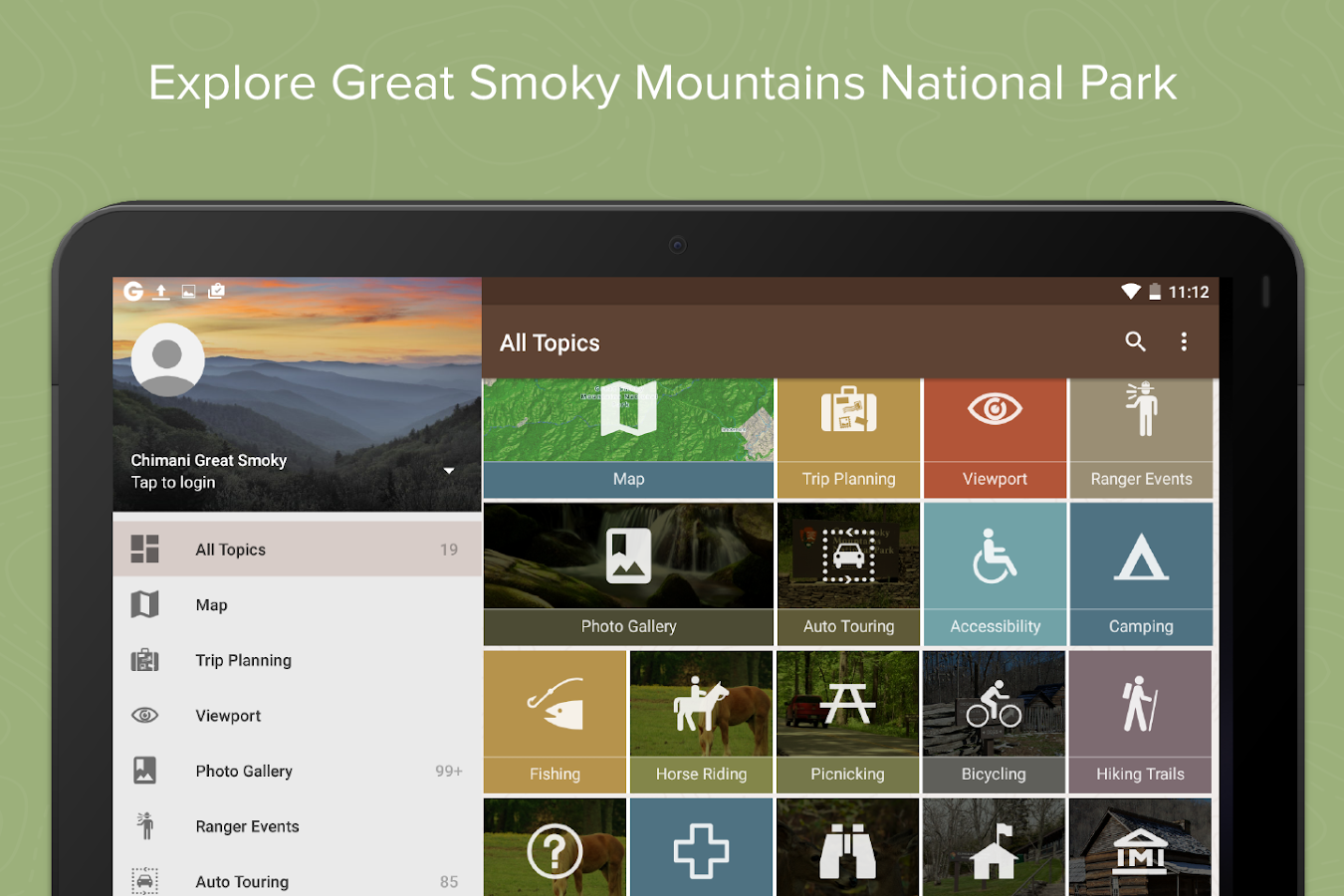 Chimani Great Smoky Mountains- screenshot