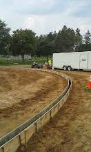 Photo: Infield Curb Forms 08-05-2014