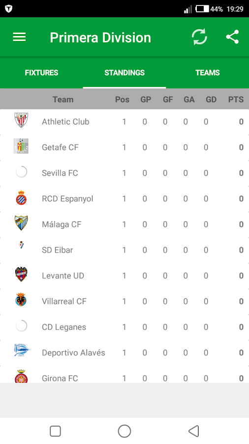 La Liga 2017-18 Fixtures - Android Apps on Google Play