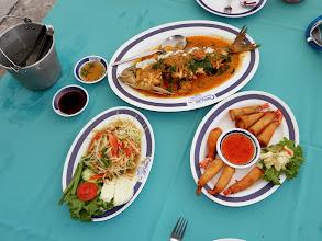 Photo: Sea bass with coconut chile sauce Hua Hin Thailand