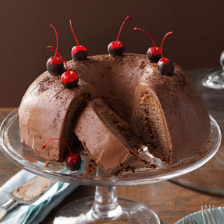 Chocolate-Cherry Brownie Cake
