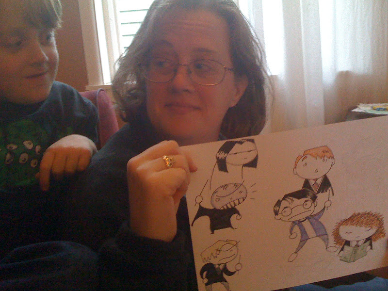 Photo: Susan gets into the act with a nice set of Harry Potter dudes.