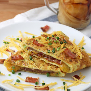 Bacon Cheddar Chive Omelette.