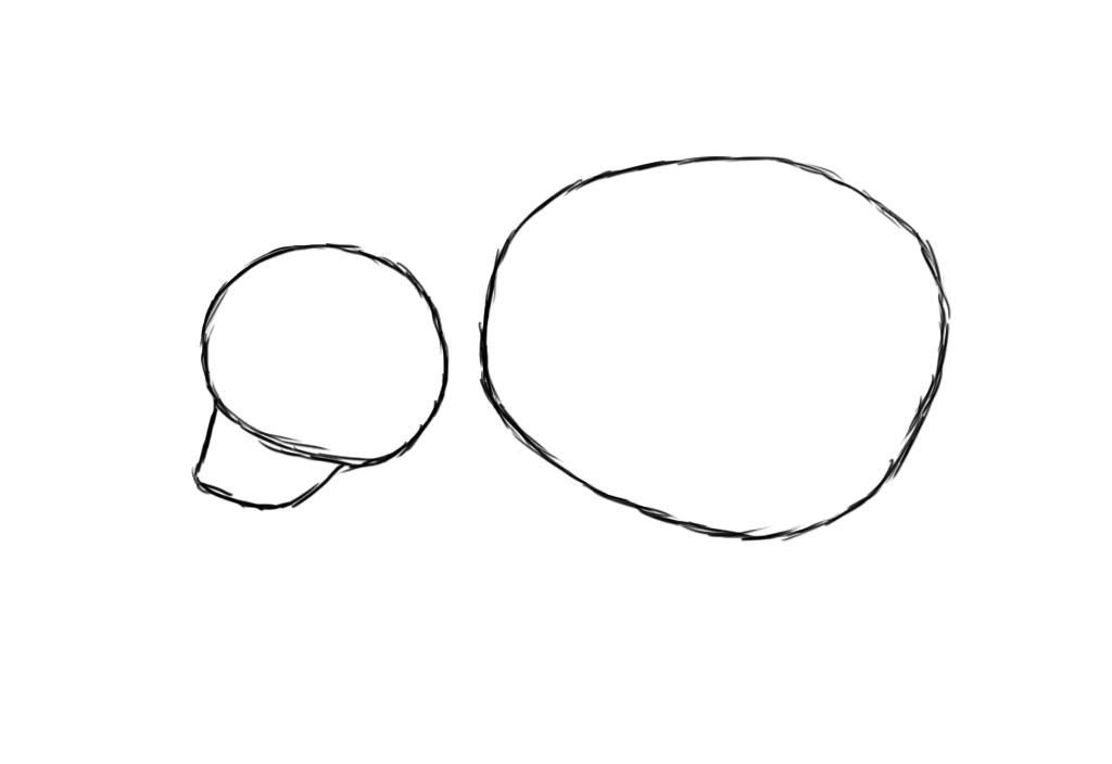 smaller circle oval