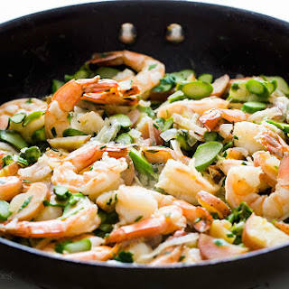 Skillet Shrimp and Asparagus