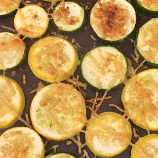 Baked Parmesan Zucchini Slices.